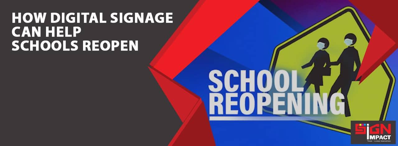 How digital signage can help schools reopen Signimpact Blog